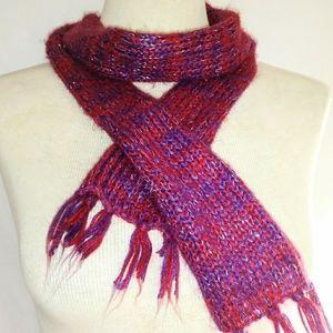 SKINNY Glittery Knit Scarf